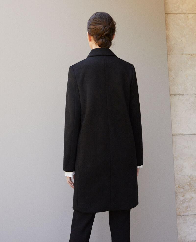 Mantel mit Reverskragen Schwarz 9vexpress