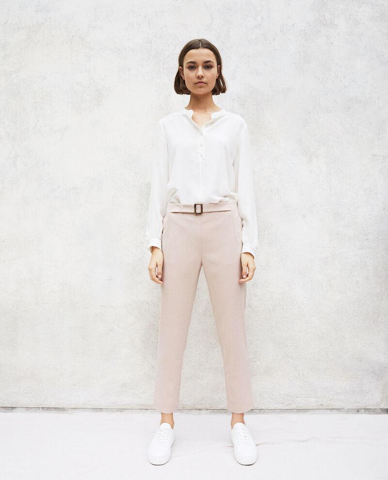Gerade geschnittene Hose Pink beige Ilda