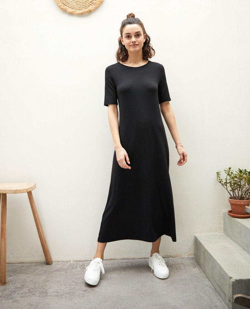 Kleid aus T-Shirt-Stoff Noir Ifornia