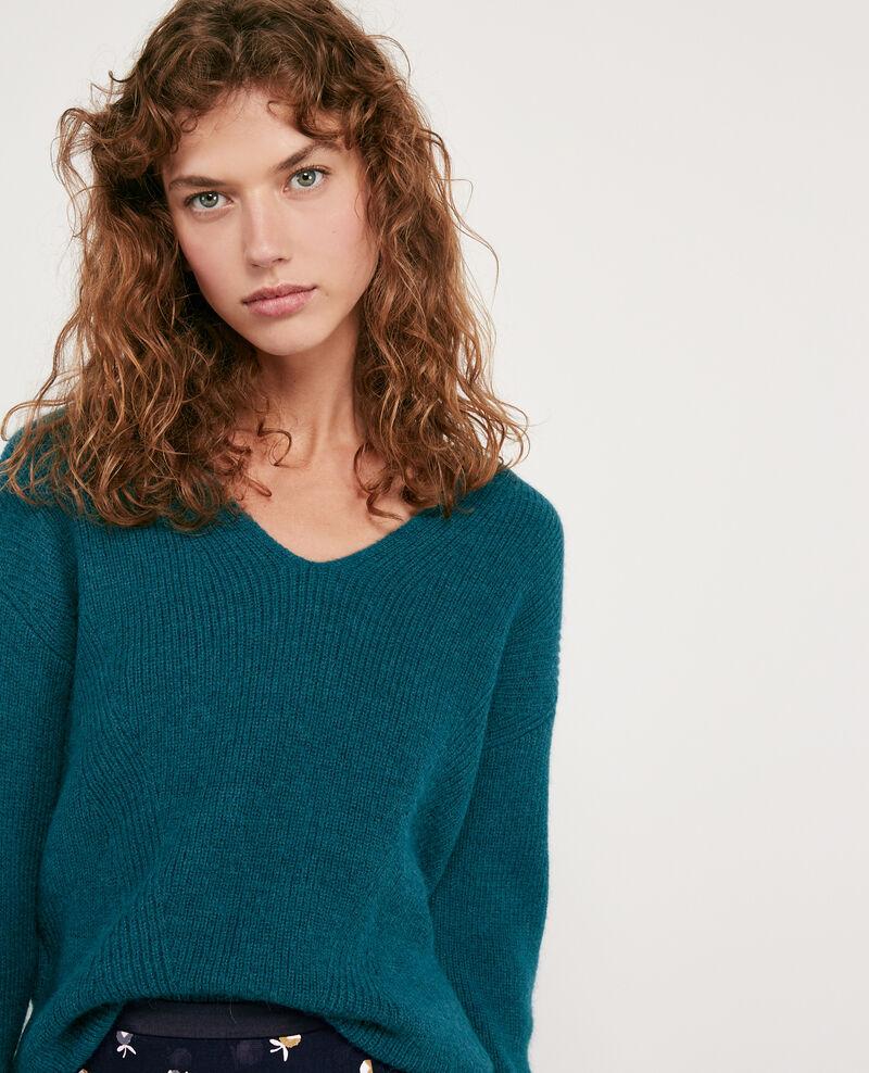 Pullover aus Wolle und Alpaka Deep sea Darren