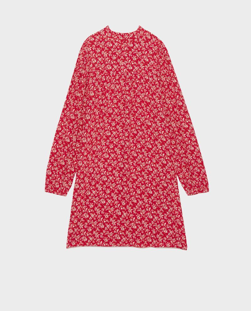 AGLAÉ - Kurzes, bedrucktes Kleid Indienne red Palneca