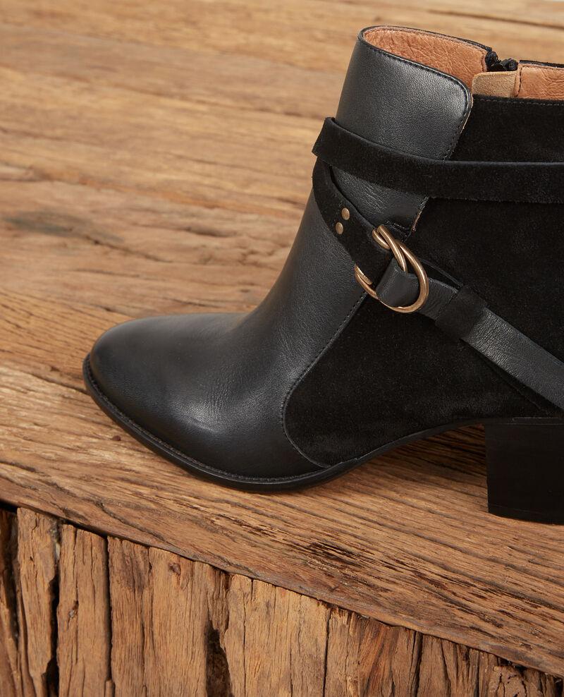 Boots aus Bimaterial-Leder Noir Dessuite