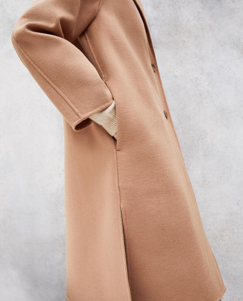 Doppelseitiger Mantel Caramel beige Irelie