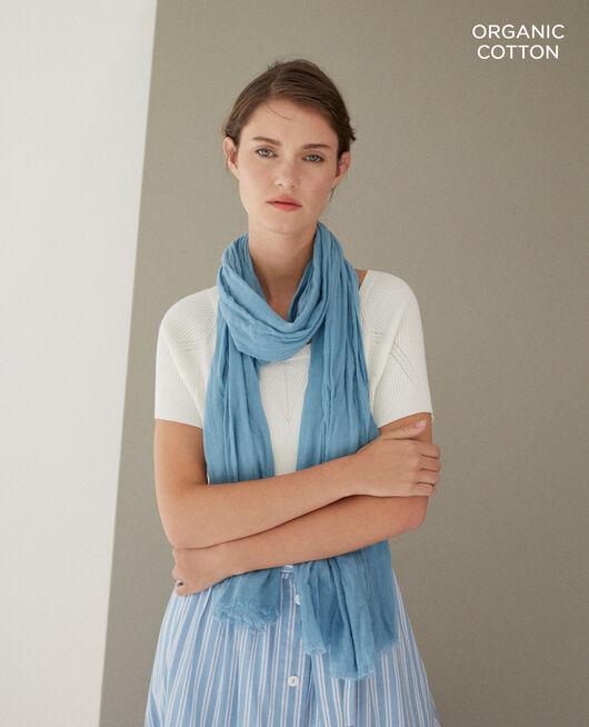 Tuch aus Organic Baumwolle Blau