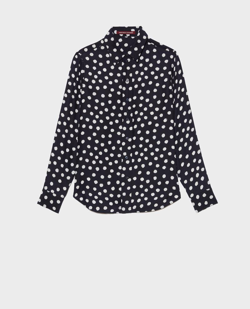 SIBYLLE - Bedruckte Seidenbluse Big dots Nabilo