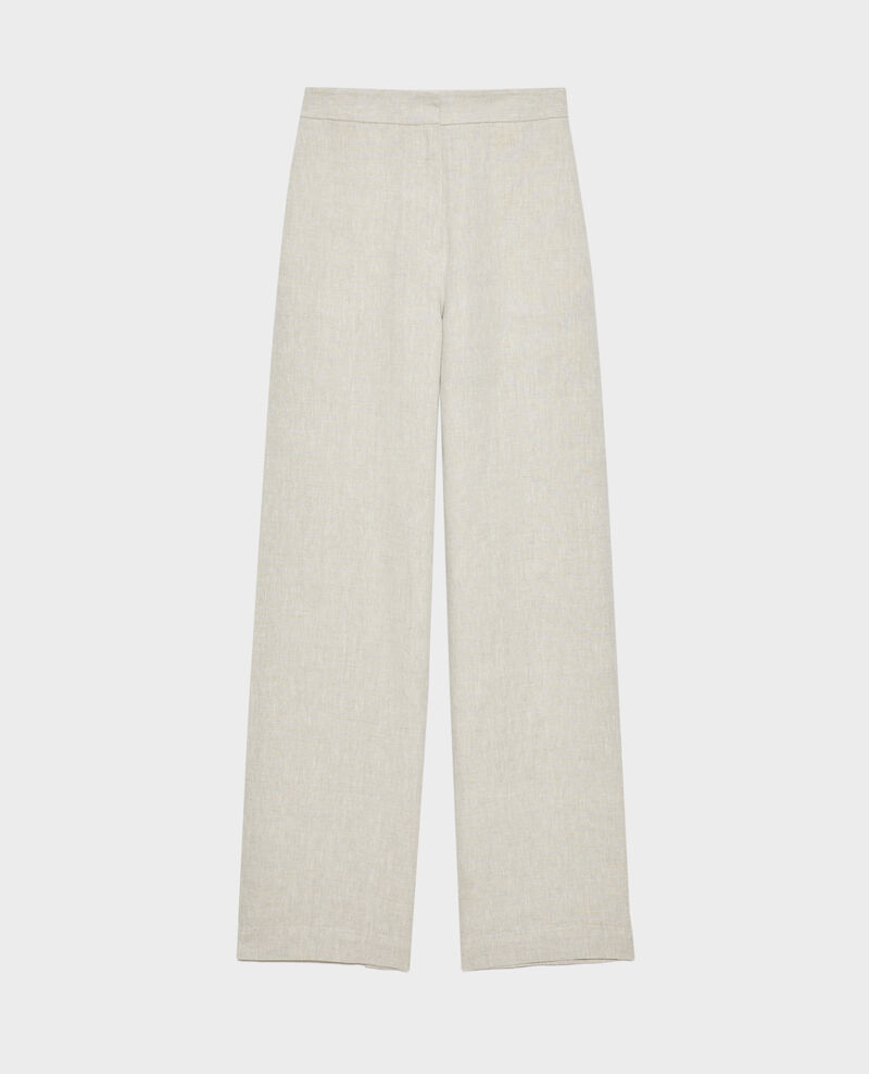 Hose mit hoher Taille aus Leinen Natural linen Neronde