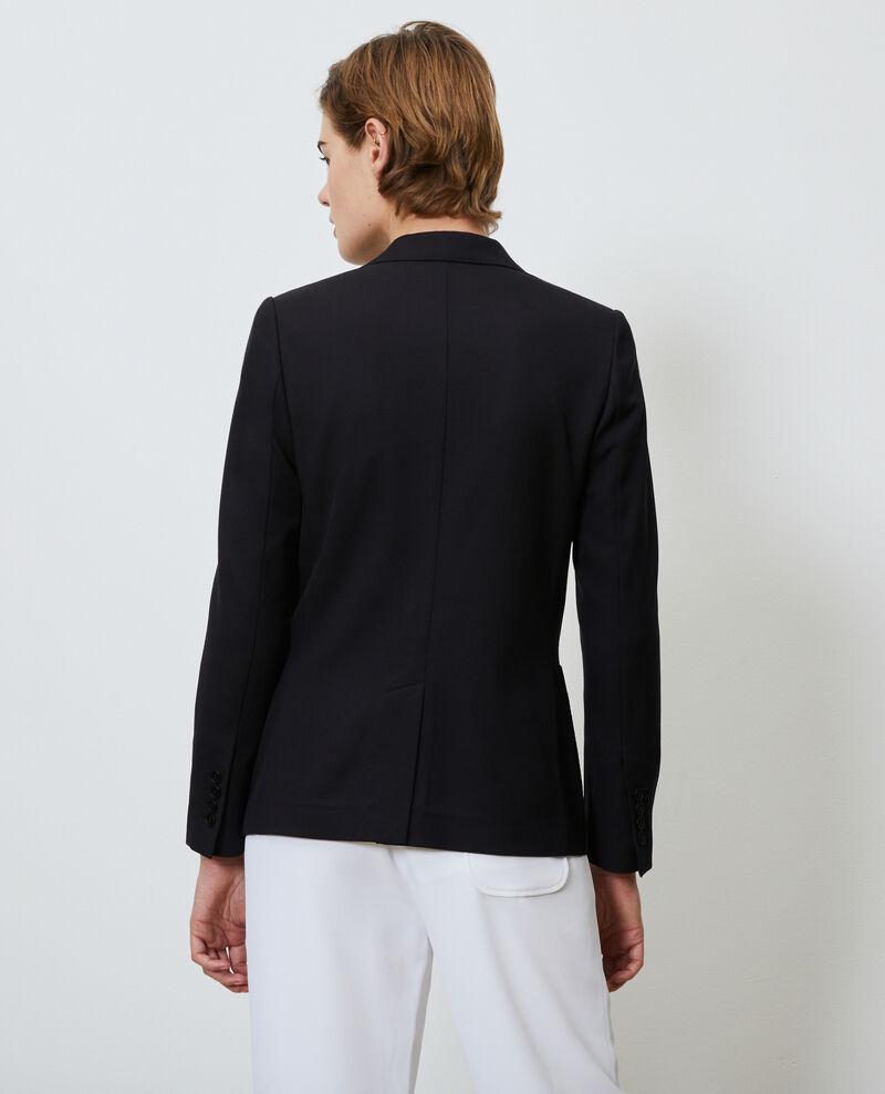 Taillierter Wollblazer für Herren Black beauty Mesanger