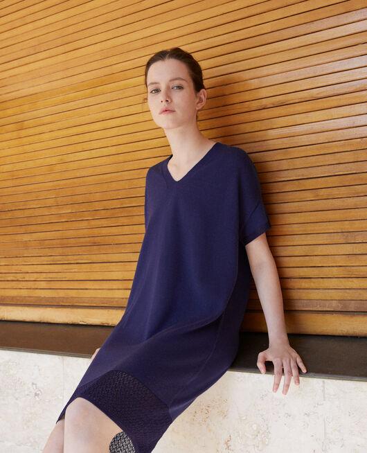 Kleid aus nahtlosem Strick MEDIEVAL BLUE