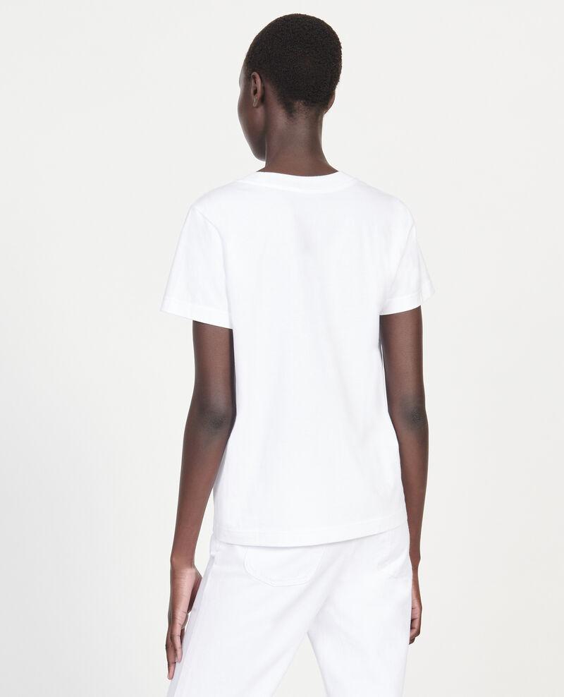 Léon T-Shirt aus Baumwolle Optical white Lenou