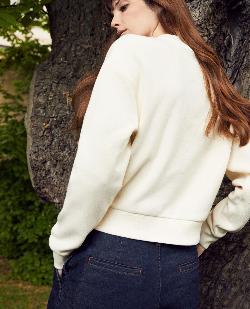 Kurzes Sweatshirt Buttercream Jizela