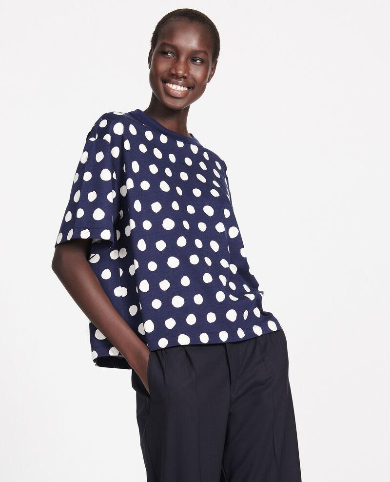 Boxy T-Shirt Dots maritime blue Lenoyer