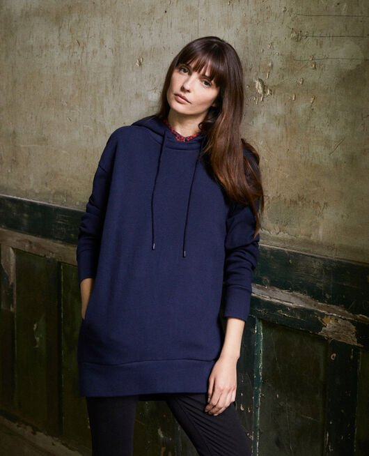 Kapuzen-Sweatshirt DARK NAVY
