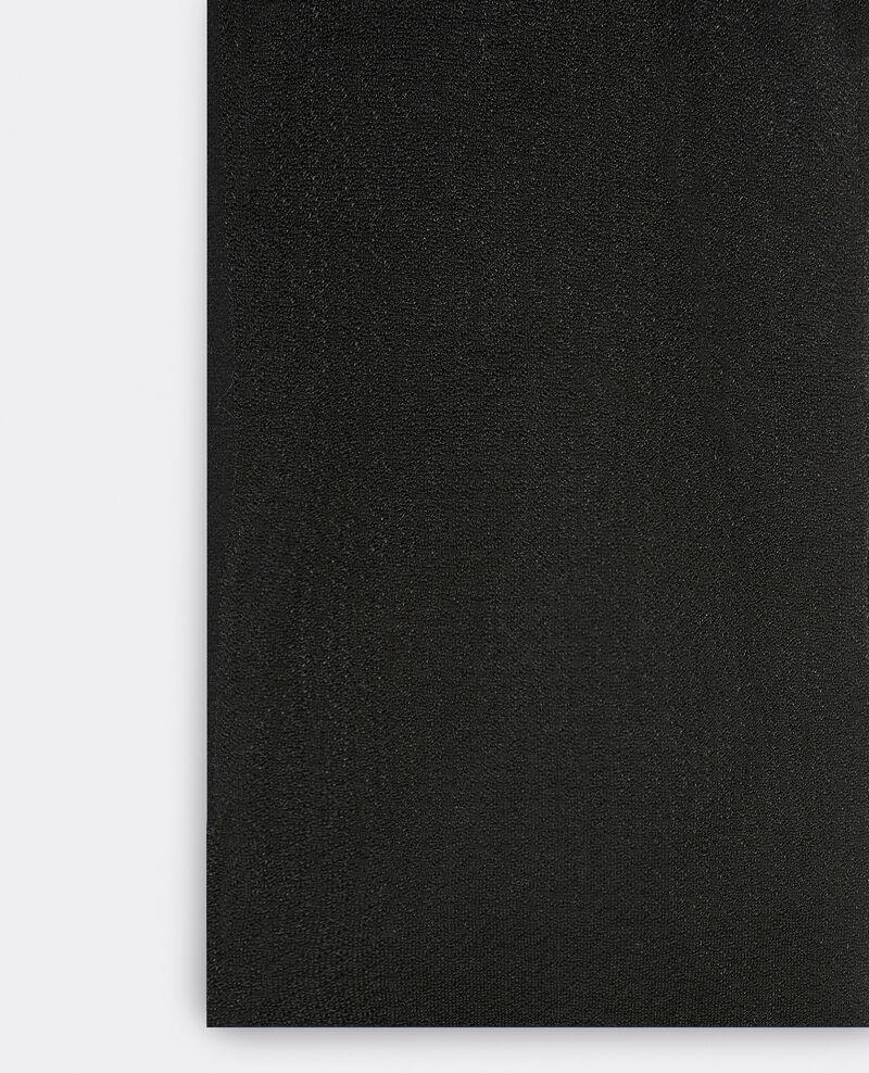 Verzierte Strumpfhose Schwarz Gambettine