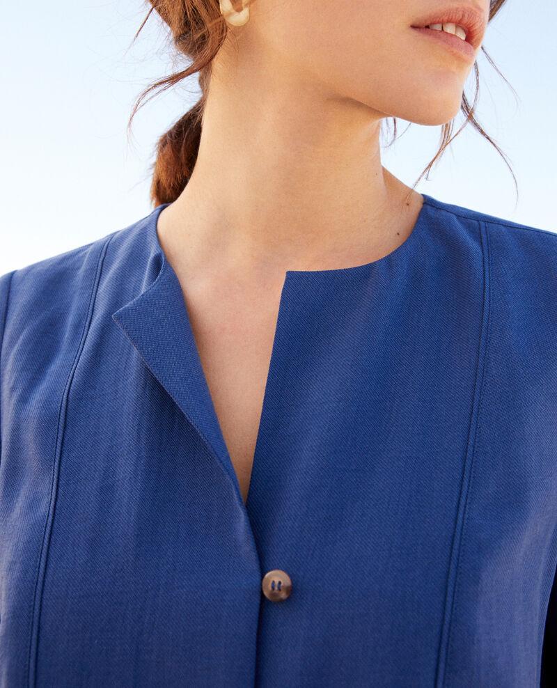 Bluse mit tunesischem Kragen Imperial blue Iepsi