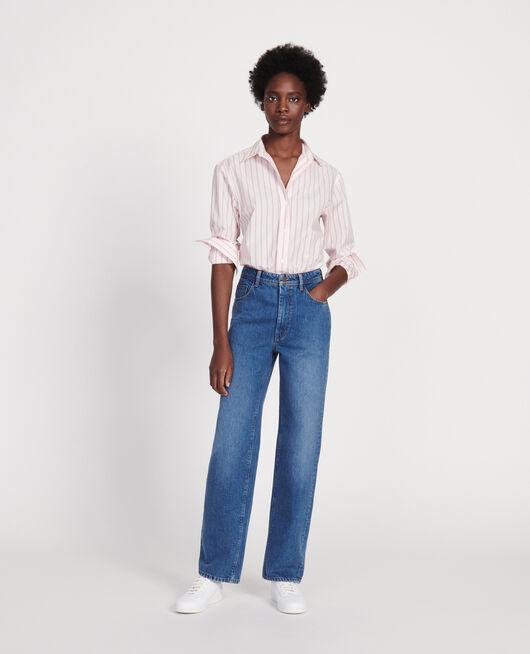 Klassische Bluse aus Popelin POPELINE STRIPE3