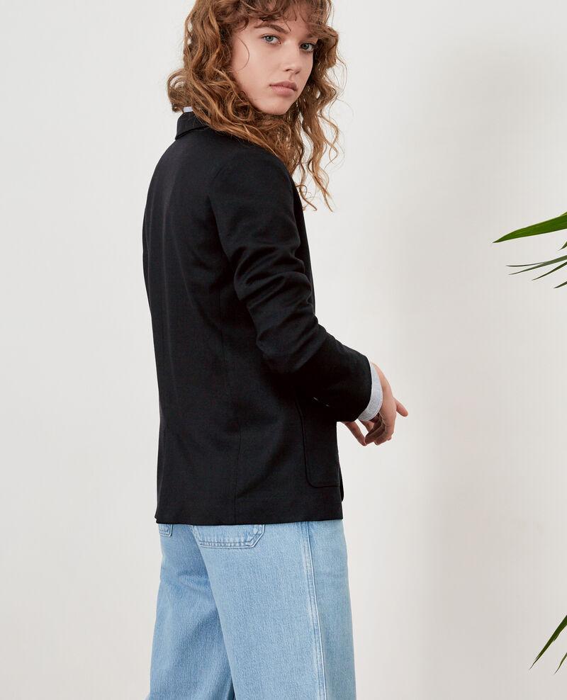 Jacke mit Wolle Noir Falcone