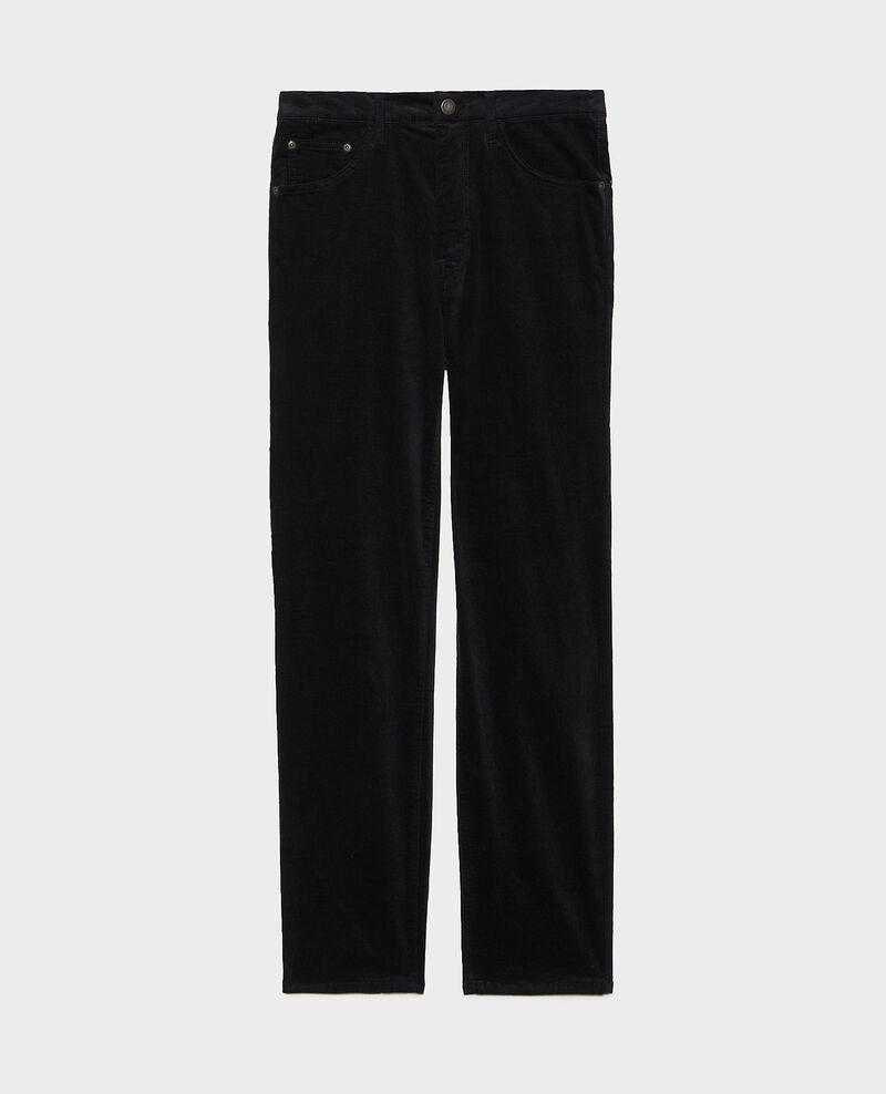 SLIM STRAIGHT - Gerade  5 Pocket-Jeans aus Samt Night sky Muillemin