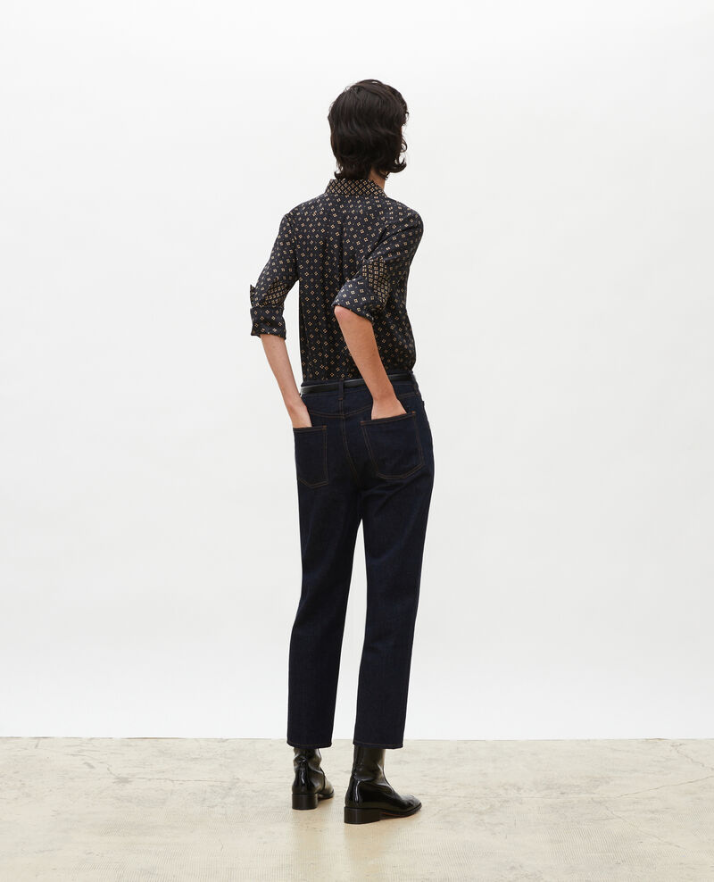 TOMBOY - Weite Jeans halbhohe Taille 5 Taschen Denim rinse Merona