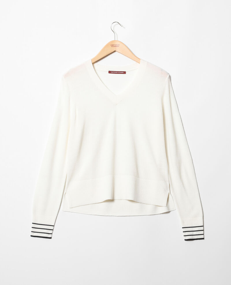 Pullover aus Wolle Off white Idile