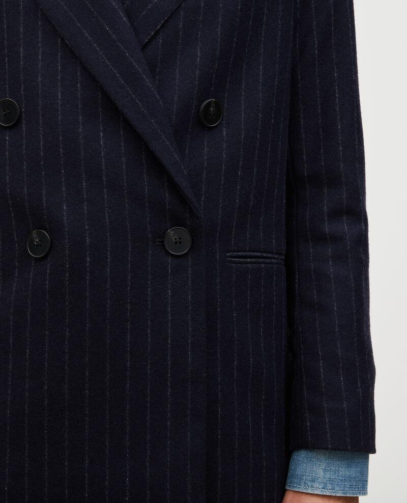 Überkreuzter Blazer aus Wolle Stripes night sky Muciano