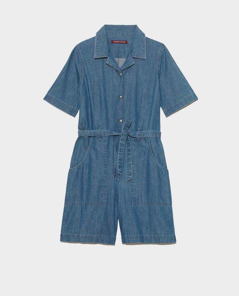 Kurzer Jumpsuit aus Jeans Denim blue Ninosa