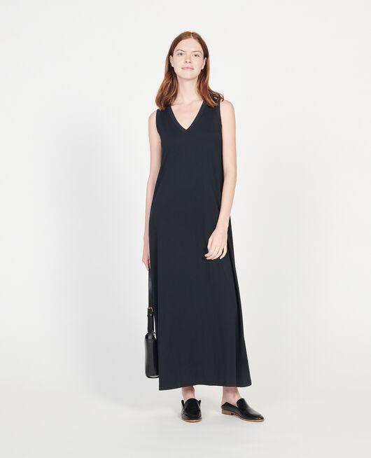 Langes Kleid aus merzerisierter Baumwolle BLACK BEAUTY