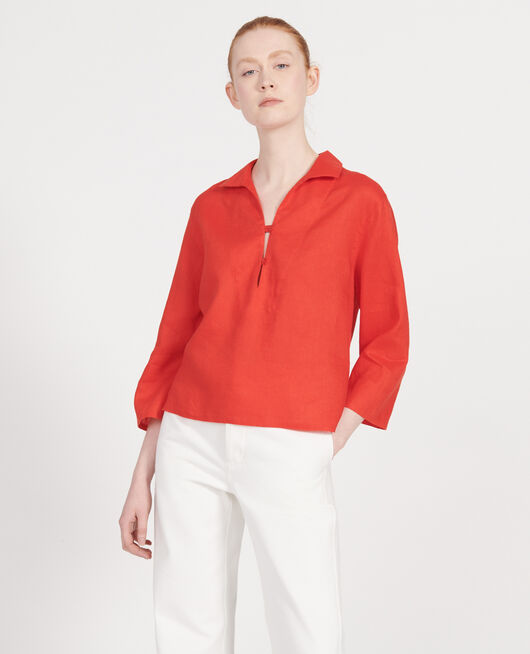 Leinenbluse FIERY RED