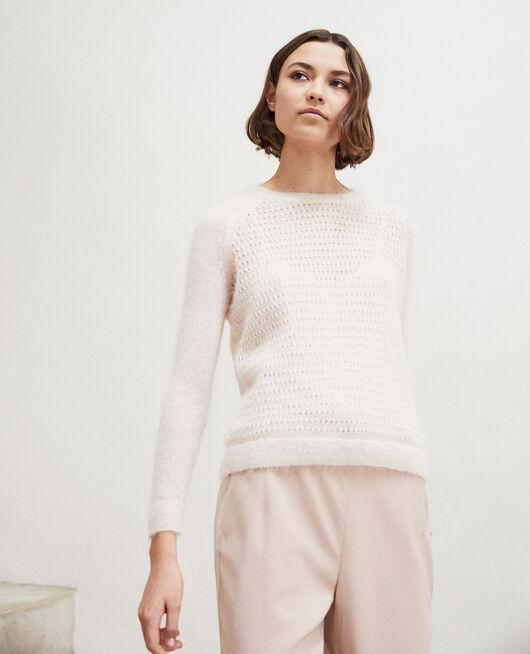 Pullover aus Zierstrick  LIGHT PINK