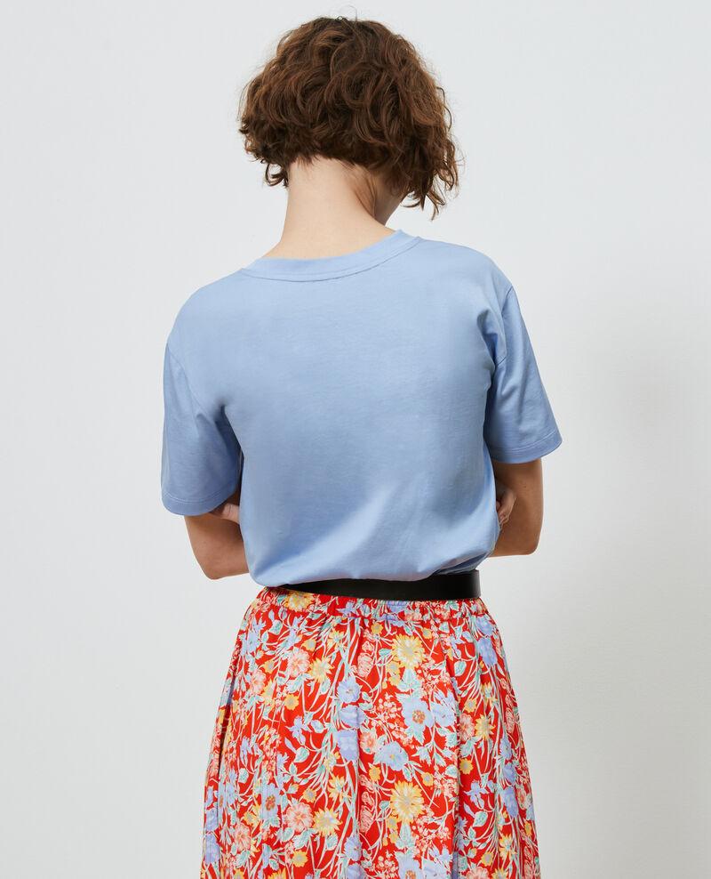 T-Shirt aus Baumwolle mit Rundhalsausschnitt Blue heron Lirous