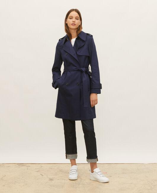 Ikonischer Trenchcoat aus Baumwolle MARITIME BLUE