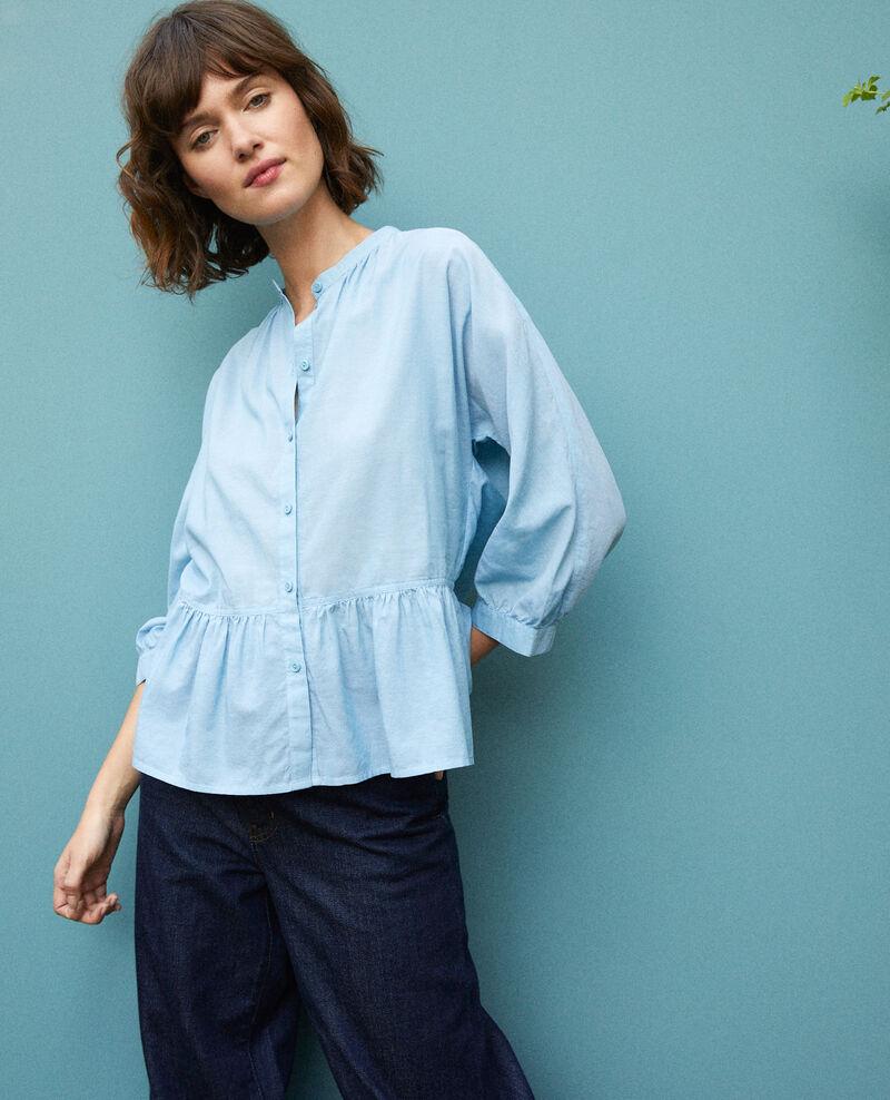 Bluse mit Schößchen Adriatic blue Garniture