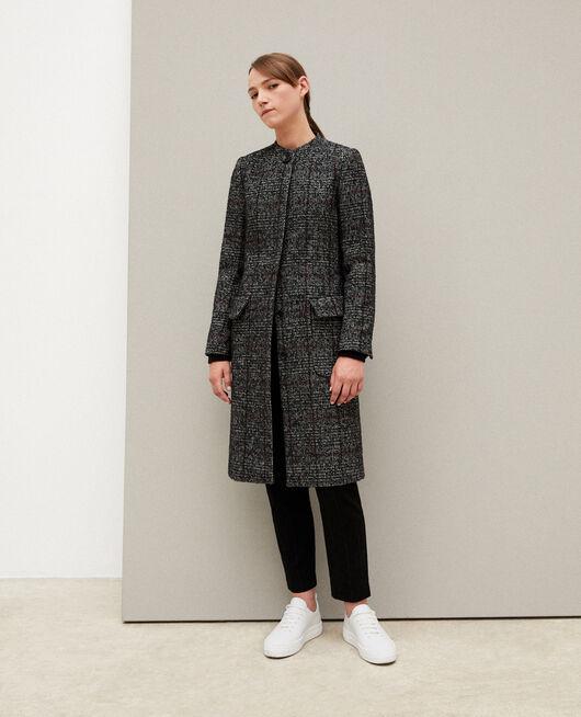 Kurzgeschnittener Mantel Schwarz
