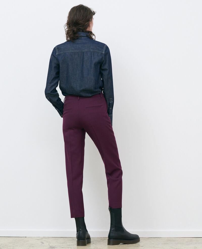 Hose MARGUERITE, 7/8-Zigarettenhose aus Wolle Potent purple Noko
