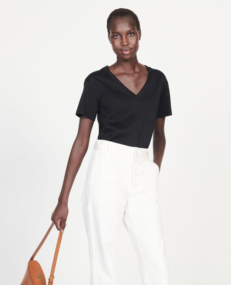 T-Shirt aus Baumwolle Black beauty Laberne