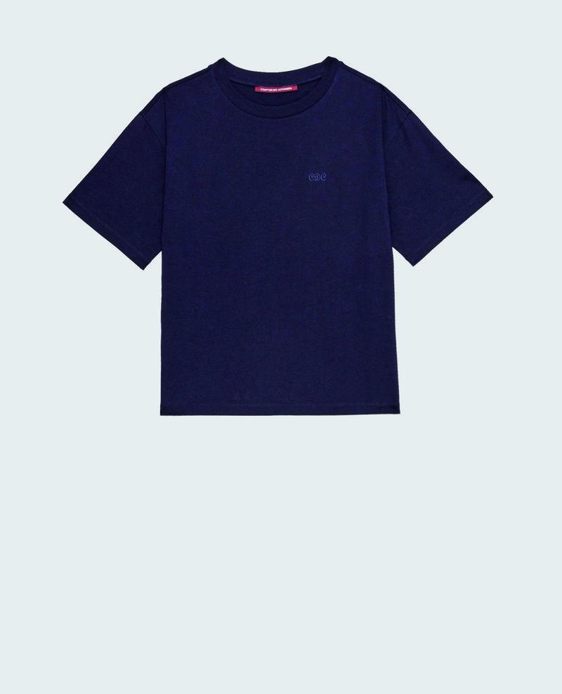 Oversize-T-Shirt aus Baumwolle mit kurzen Ärmeln Night sky Maincy
