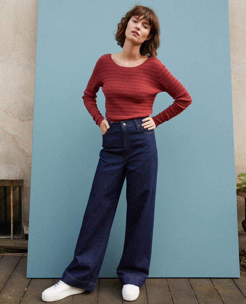 Wide Full Lenght-Jeans Blau Glin