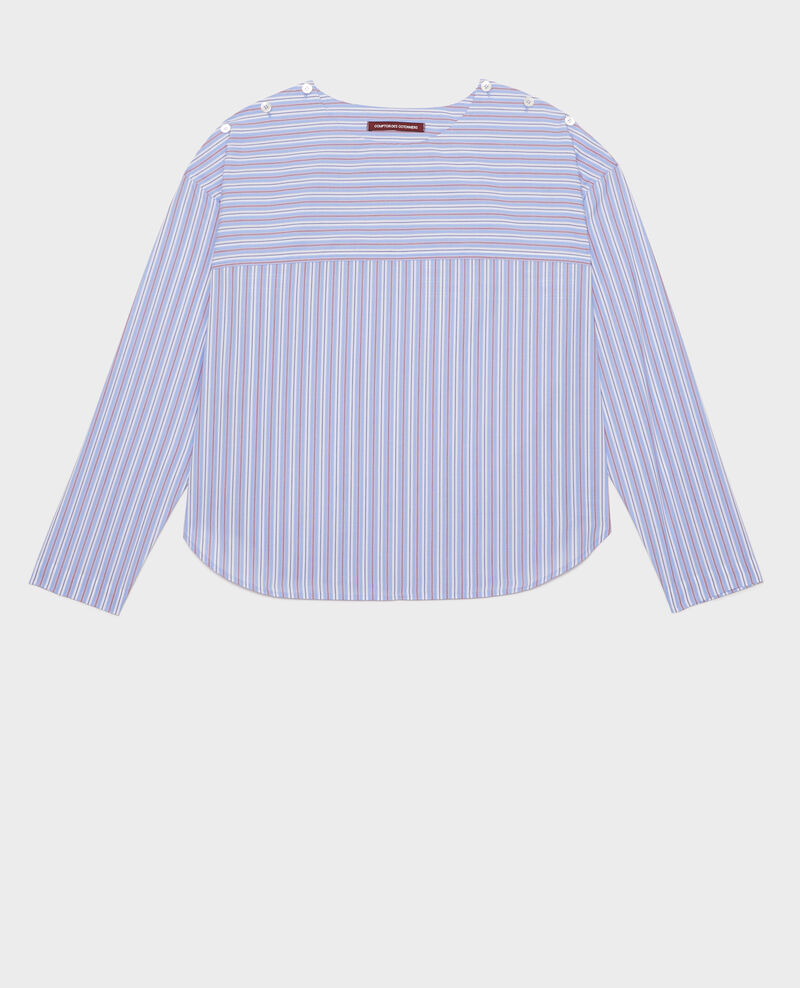 Gestreifte Oversize Bluse Popeline stripes Lennon