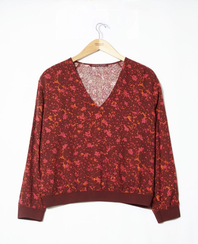 Bluse mit V-Ausschnitt Rot Goisson