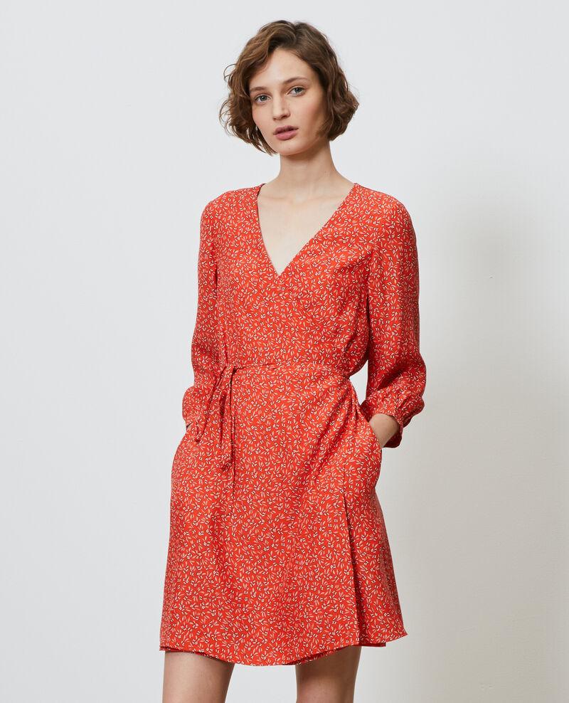 Wickelkleid aus Seide mit Blümchenmuster Clochette spicy Nireclos