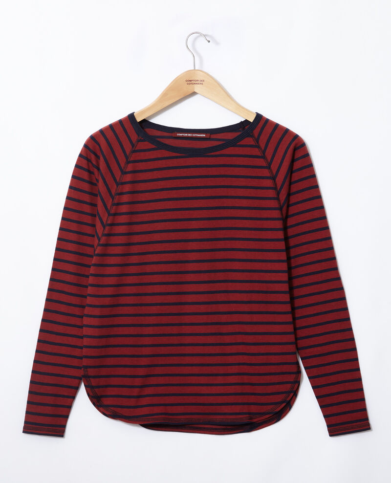 Matrosen-T-Shirt Cowhide/peacoat Gainde