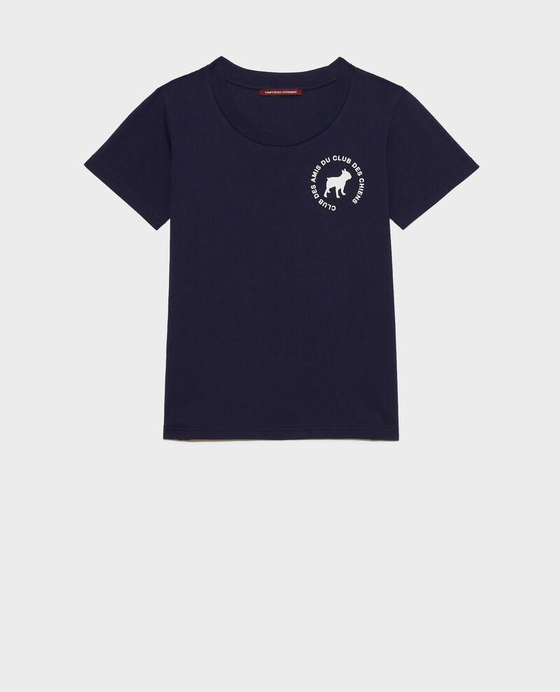 T-Shirt aus Baumwolle Maritime blue Nyer