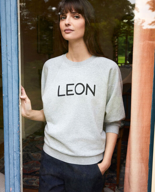 Sweatshirt LEON HEATHER GREY