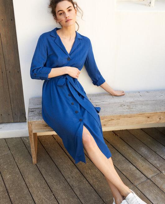 Kleid mit offenem Kragen  IMPERIAL BLUE