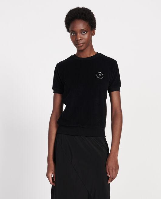 Frottee-T-Shirt aus 100 % Baumwolle BLACK BEAUTY