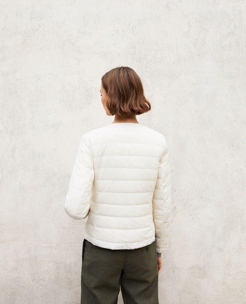 Legendäre Daunenjacke Mademoiselle Plume Light grey/off white Illopou