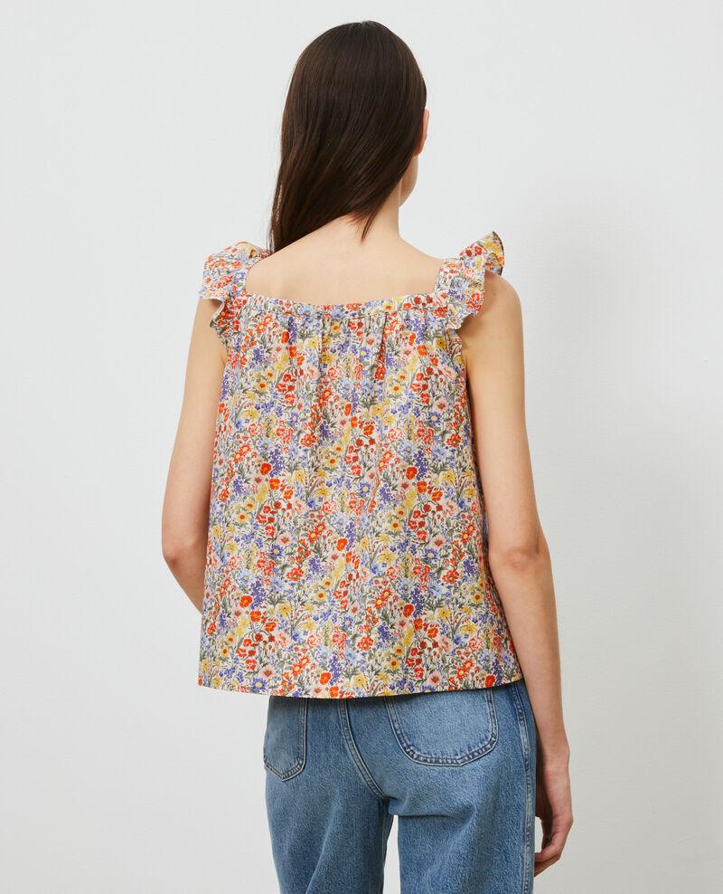 Trägertop aus Baumwolle und Seide Prairie gardenia Nympha