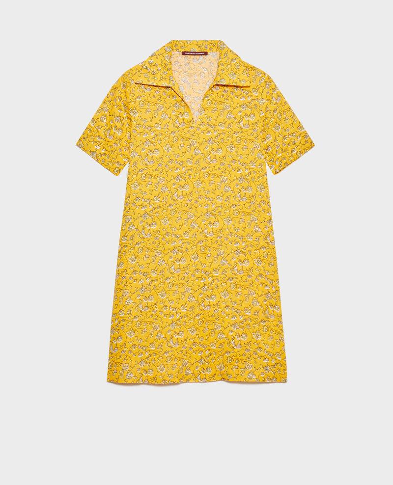 Matrosenkleid aus Leinen Indie-small-yellow Noaillesse