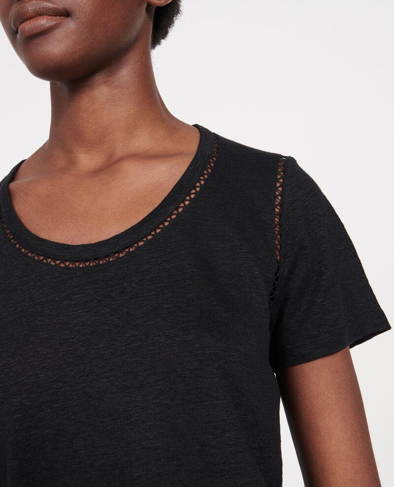 T-Shirt aus Jersey-Leinen Black beauty Lye