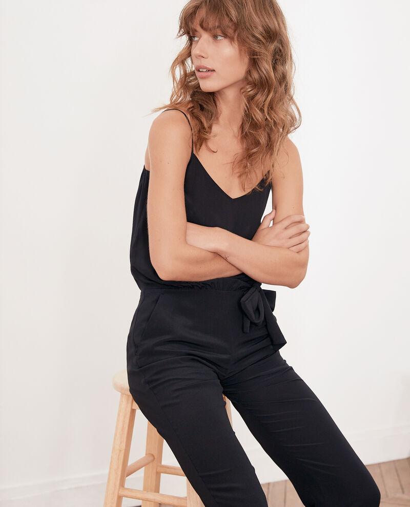 Fließender Overall Noir Felicie