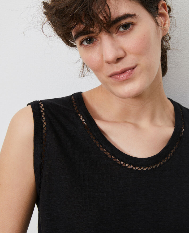 Top aus Leinen Black beauty Lespa